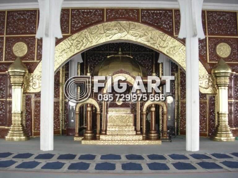 Kaligrafi Kuningan Mimbar Masjid