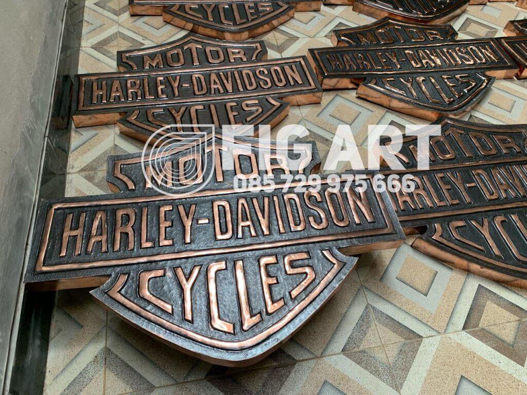 logo tembaga harley davidson