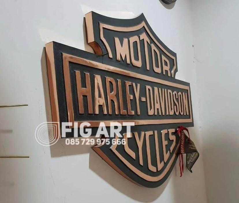 logo harley davidson tembaga