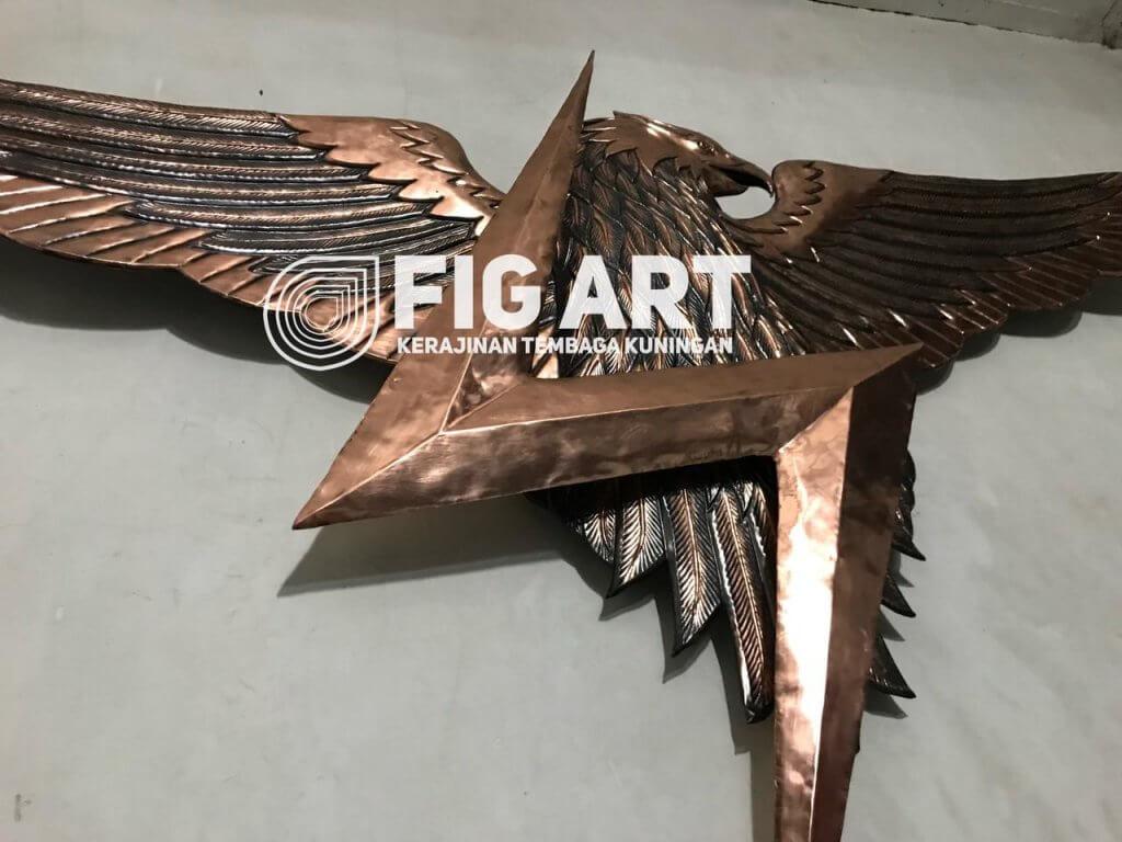 Logo Tembaga Brimob Burung dan Petir