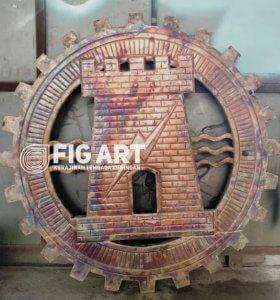 Logo Tembaga Ukiran